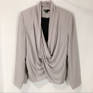 BUFFALO DAVID BITTON GRAY DRAPE FRONT BLAZER LARGE